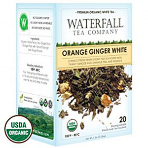 organic orange ginger white tea